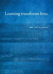 EDC Annual Report 2011 - Education Development Center, Inc.