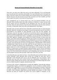 Discours de François Hollande à Marseille le 14 mars 2012 Chers ...