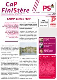 L'UMP contre l'EPF - Fédération du Finistère du Parti socialiste