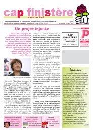 Cap F.qxd - Fédération du Finistère du Parti socialiste