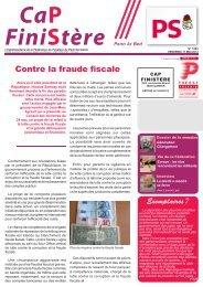 Contre la fraude fiscale - Fédération du Finistère du Parti socialiste