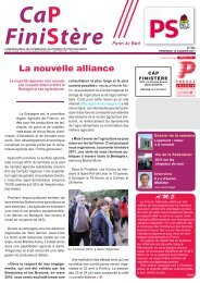La nouvelle alliance - Fédération du Finistère du Parti socialiste