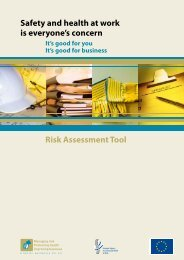 Risk Assessment Tool - European Agency for Safety and Health at ...