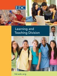 Learning and Teaching Division - Education Development Center, Inc.