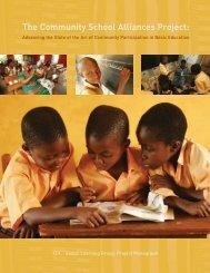 The Community School Alliances Project: - International ...