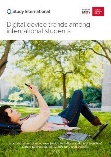 Study International - Q1 Digital device trends among international students