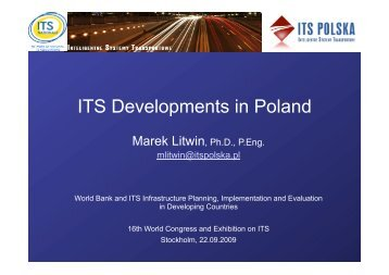 ITS Developments in Poland - ITS Polska