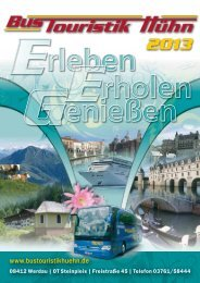 Katalog 2013 im PDF-Format - Bus Touristik Hühn