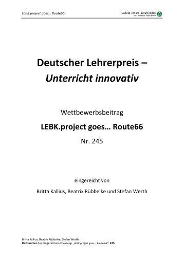 Deutscher Lehrerpreis – Unterricht innovativ - auf der Startseite