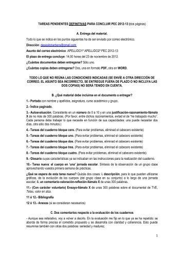 1 TAREAS PENDIENTES DEFINITIVAS PARA CONCLUIR PEC ...