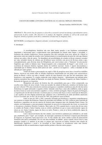 um estudo sobre atitudes lingüísticas: o caso da ... - Celsul.org.br