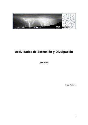 Actividades 2010 - Departamento de Ciencias de la Atmosfera y los ...