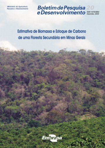 Estimativa de Biomassa e Estoque de Carbono de ... - Embrapa Solos