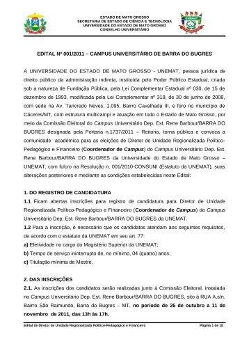 RESOLUÇÃO Nº 005/2010 – CONSUNI - UNEMAT