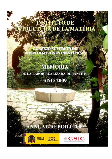 Memoria De 2009 Instituto De Estructura De La Materia