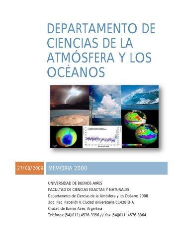Año 2008 - Departamento de Ciencias de la Atmosfera y los Oceanos