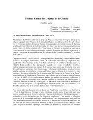 Thomas Kuhn y las Guerras de la Ciencia - Historia y Filosofía de la ...