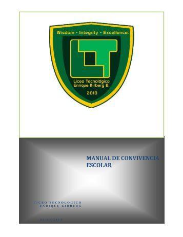 Manual de Convivencia - Liceo Tecnológico Enrique Kirberg