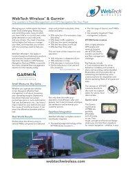 WebTech Wireless and Garmin