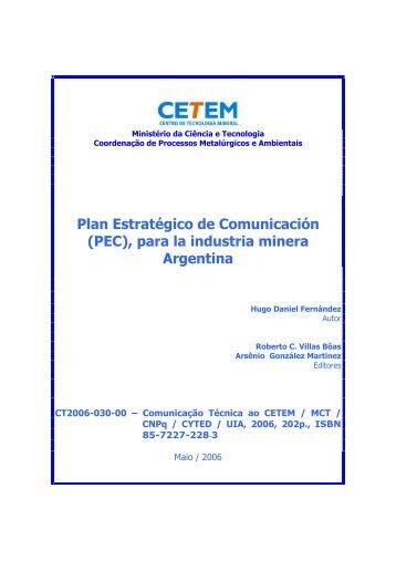 Plan Estratégico de Comunicación (PEC), para la ... - SEGEMAR