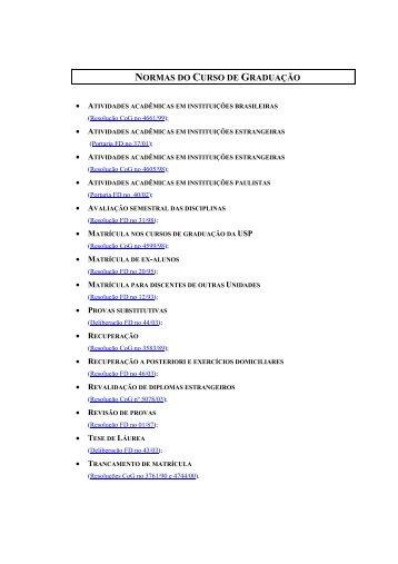 normas do curso de graduação - Faculdade de Direito ...