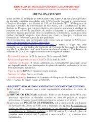 bolsas de estudo - Faculdade de Direito - Universidade de São Paulo