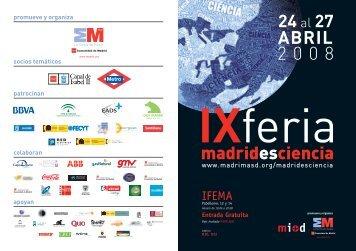Folleto IX Feria Madrid es Ciencia - Fundación Dinosaurios