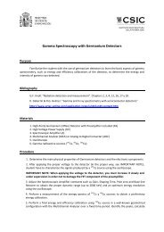 Lab 1 Gamma Detectors - HpGe - Instituto de Estructura de la Materia