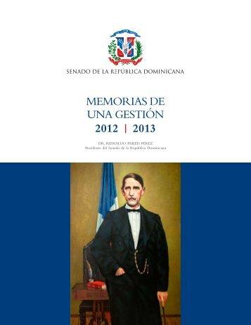 memorias de una gestión 2012 | 2013 - Senado de la República