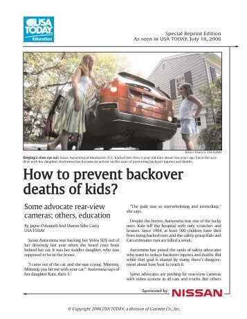 How to prevent backover deaths of kids?