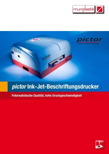 pictor Ink-Jet-Beschriftungsdrucker - Murrplastik Systemtechnik