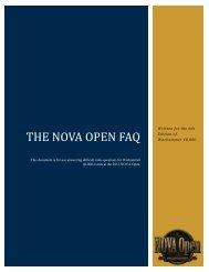 The NOVA Open FAQ
