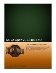 NOVA Open 2013 40k FAQ