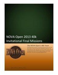 2013 WARHAMMER 40k INVITATIONAL Final ... - NOVA Open