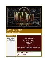 NOVA Open January 2012 Newsletter
