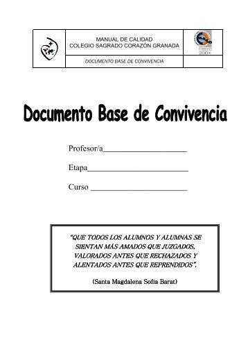 Documento Base Convivencia - Colegio Sagrado Corazón de ...