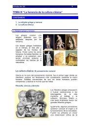 "TEMA III ""La herencia de la cultura clásica"""