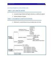 tema 5: los climas de españa tema 6: los dominios climáticos en ...