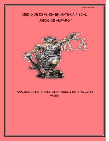 """MEDIO DE DEFENSA EN MATERIA FISCAL """"JUICIO ... - Gestiopolis"""