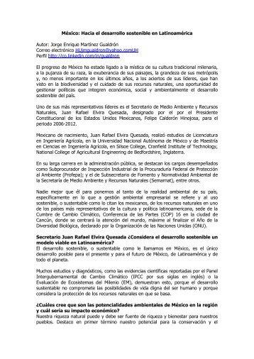México: Hacia el desarrollo sostenible en ... - Gestiopolis