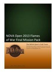 2013 FLAMES of WAR PRIMER - NOVA Open