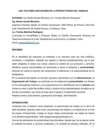 REPUBLICA DE CUBA - Gestiopolis