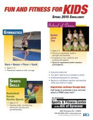 Spring 2015 Fitness & Recreation Classes for Kids