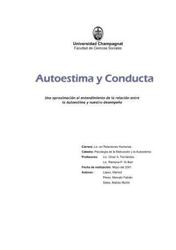 Autoestima y Conducta - Gestiopolis