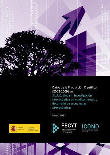 Datos de Producción Científica (2003-2009) en Salud ... - ICONO