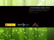 INFORME SISE 2010 - Ministerio de Ciencia e Innovación