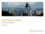 New Features Update - Acceso a la Web of Knowledge