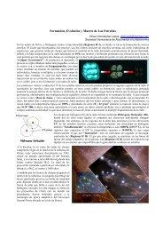Formación, Evolución y Muerte de Las Estrellas - Sovafa.com