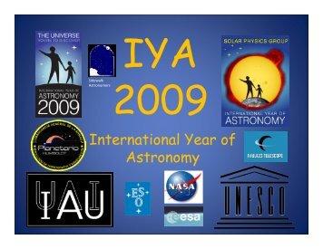 International Year of Astronomy - Sovafa.com