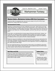 Warhammer Fantasy - NOVA Open